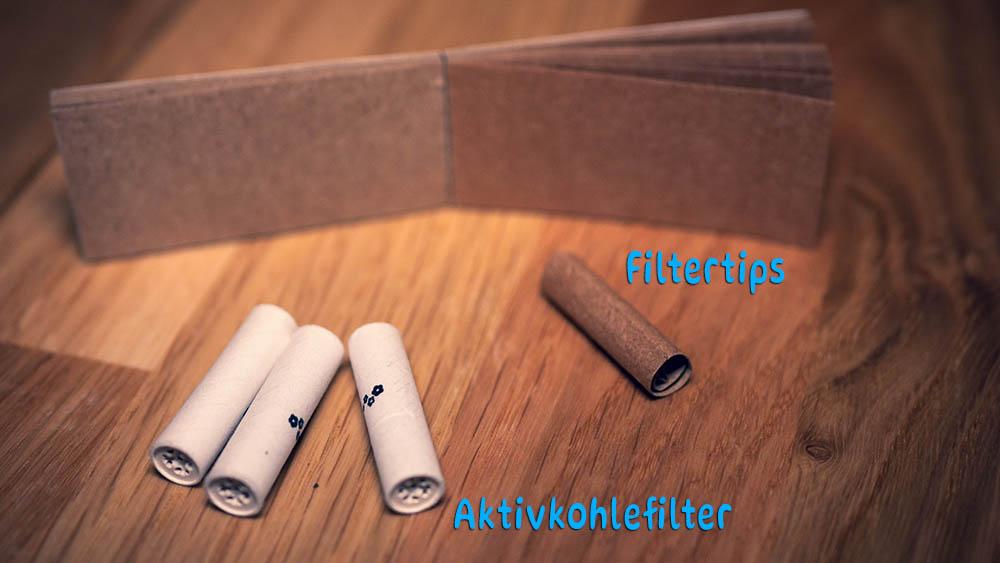 AKtivkohlefilter und FIltertips