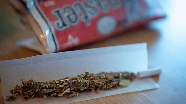 Knaster Tabak im Joint