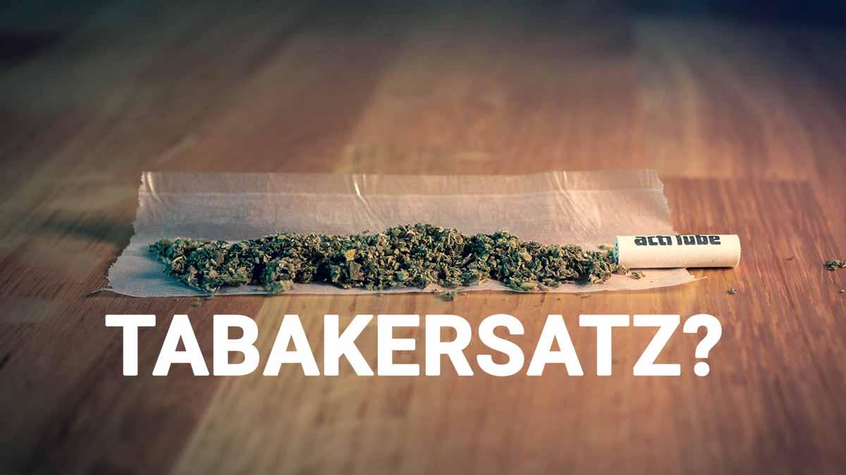 Tabakerstatz auf Drehpapier mit Filter
